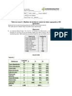 TALLER ESTADISTICA DESCRIPTIVA MEDIDAS DE TENDENCIA CENTRAL ( 2)