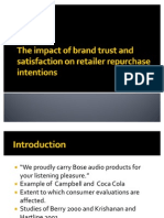 The impact of brand trust and satisfaction on