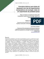 Princípios básicos para testes de hipóteses com uso de experimentos manipulativos em ecologia