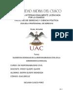 Elementos generales de la responsabilidad civil en la jurisprudencia peruana