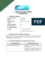 SILABO CULTURA FISICA Y DEPORTE