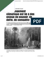 «Le changement climatique est lié àdes enjeux de pouvoir, de dette, deconquête» - Libération