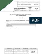 2 PEI SST 001 Instructivo de Evaluacion de Competencias y Responsabilidades