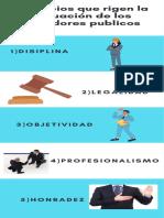 Principios que rigen la actuación de los servidores publicos
