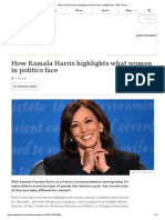 How Kamala Harris highlights what women in politics face - BBC News