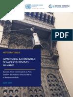 Note stratégique _ Impact social et économique de la crise du Covid-19 au Maroc