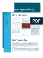 Seasons, Purpose and Destiny