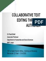 COLLABORATIVE TEXT EDITING THROUGH AUTHOREA-Dr-Preeti-Bhattt