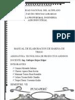 ELABORACION DE HARINA DE TRIGO