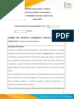Análisis de Proyectos sostenibles_Unidad 2 - Fase 2 - Reflexión