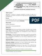 2.2.1.1 Procedimiento para elaboración de mediciones ambientales iluminación