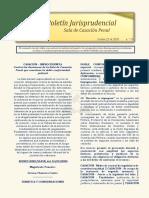 Boletín Jurisprudencial n.º 14 del 22 de octubre de 2020