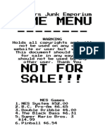 do not sell this document whiskers junk emporium game menu