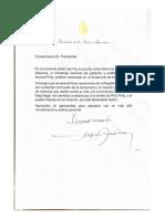 La carta de Alberto Fernández al presidente de Francia