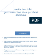 Anomaliile tractului gastrointestinal si ale peretelui abdominal