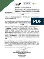 certificacion punto 3609 paola