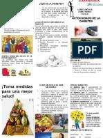 Brochur de AUTO CUIDADO DE LA DIABETE-2018