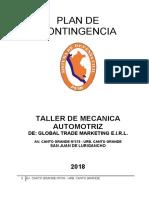 CONSORCIO ROBLES - PLAN DE CONTINGENCIA AL DETALLE MECANICA
