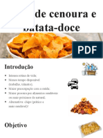 Chips de Cenoura e Batata-doce