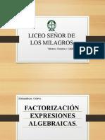 FACTOIZACION DE TRINOMIOS.
