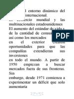 EL ENTORNO DINÁMICO DEL COMERCIO INTERNACIONAL