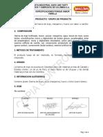 ES-PLP-244 ESPECIFICACIONES PONQUE TAJADO DE VAINILLA DE VAINILLA  Versión 001  - Fecha de vigencia 09-04-2019