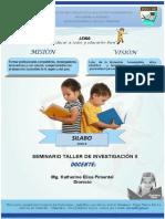 SEMINARIO TALLER INVESTIGACION II 2020-ll