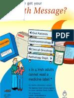 Health literacy poster