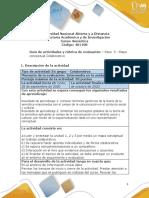 Guía de actividades y rúbrica de evaluación – Paso  3-Mapa conceptual colaborativo