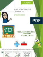 CLASE ONLINE DE3E MATEMATICA SEMANA 16 REPASO ADICIONES Y SUSTRACCIONES  21-10