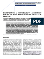 IDENTIFICATION of SUSTAINABILITY ASSESSMENT INDICATORS for the INFRASTRUCTURE PROJECTS of PAKISTAN