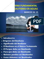 6.-DOCTRINA FUNDAMENTAL DEL BAUTISMO EN AGUA