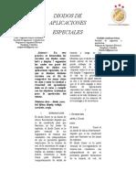 informe diodos de  aplicaciones especiales