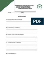 Estudo dirigido INFECÇÃO HOSPITALAR