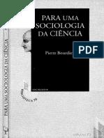Para Uma Sociologia Da Ciencia BOURDIEU
