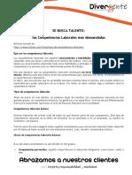 COMPETENCIAS LABORALES mas demandadas