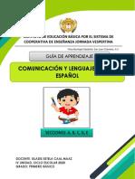 Primero Básico CL1, Guía de aprendizaje IV unidad Profa. Gladys Maaz.