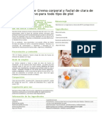 Proceso de producción para la crema a base de clara de huevo