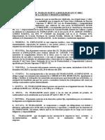 CONTRATO DE  TRABAJO SUJETO A MODALIDAD LEY N28056