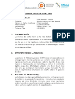 INFORME DE EJECUCION  - TALLER 3