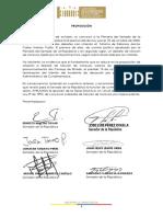 Proposicion Plenaria- 22