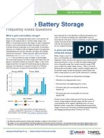 Grid scale battery storage