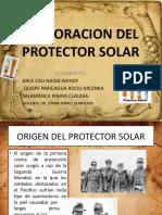 ELABORACION DEL PROTECTOR SOLAR DIAPOS