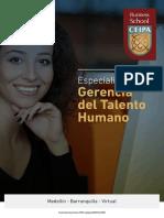 ESPECIALIZACION EN GERENCIA DEL TALENTO HUMANO