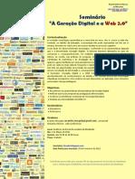 """""""A Geração Digital e a Web 2.0"""""""