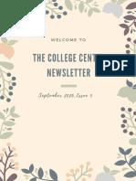 college center newsletter  issue five