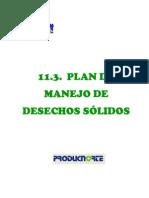 11.3 Plan de Desechos