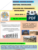 CLASE 1. EVOLUCIÓN DELPENSAMIENTO SOCIOLÓGICO