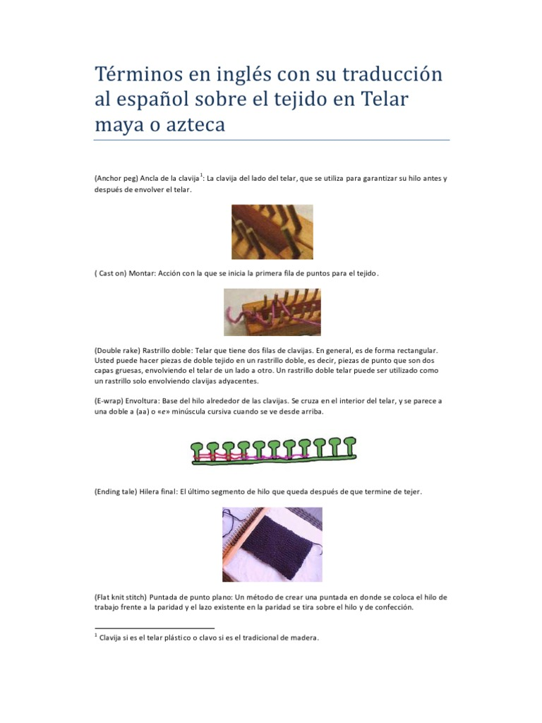 Terminologia de ingles a español