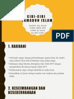 Ciri-ciri Tamadun Islam